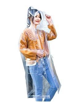Freesmily Super Transparent Raincoat for Women Fashion EVA W