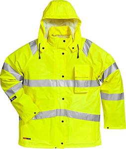 Fristads Kansas Workwear 101038 High Vis Rain Jacket Hi-Vis