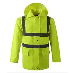 GOGO High Visibility Light Weight Waterproof Rain Jacket, Me