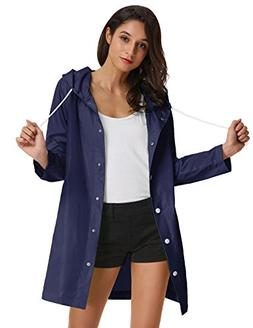 GRACE KARIN Rain Jacket Coat For Adults Hooded Waterproof Wi