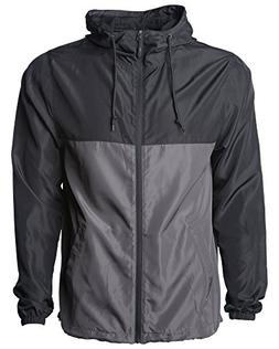 Global Men's Hooded Lightweight Windbreaker Rain Jacket Wate