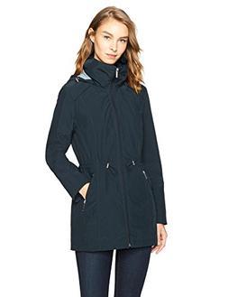 HAVEN OUTERWEAR Women's Short Packable Rain Jacket, Navy, Me