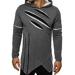 HTHJSCO Men's Eco Zip Hoodie Sweatshirt, Mens Slim Fit Sleev