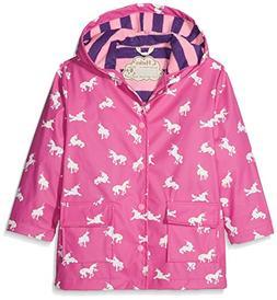 Hatley Big Girls' Printed Raincoats, Colour Changing Unicorn