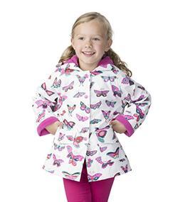 Hatley Big Girls' Printed Raincoats, Groovy Butterflies, 8