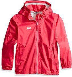 Helly Hansen Kid's Loke Packable Rain Jacket, Magenta, 7