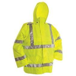Hi-Vis Rain Jacket, Hi-Vis Green, S