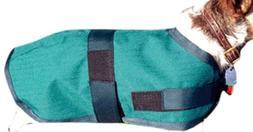 High Spirit Dog Rain Coat, 12-Inch, Hunter Green/Navy