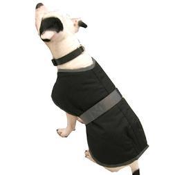 High Spirit Dog Rain Coat, Black/Grey, 28-Inch