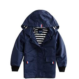 Hiheart Boys Waterproof Hooded Jackets Cotton Lined Rain Jac