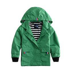 Hiheart Boys Waterproof Hooded Jackets Cotton Lined Rain Jac