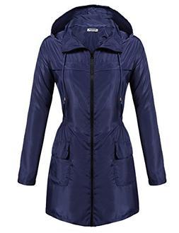 Hotouch Women's Rain Jacket Lightweight Waterproof Raincoat