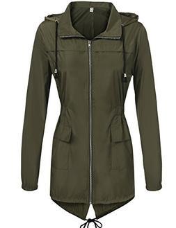 Hount Women's Lightweight Active Outdoor Waterproof Raincoat