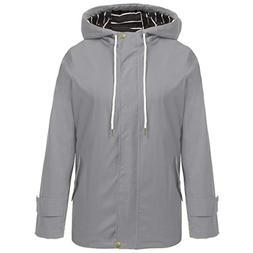 Hount Womens Plus Size Raincoat Waterproof with Hood Lightwe