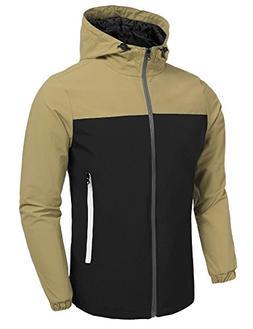 JINIDU Unisex Waterproof Raincoat Hooded Windbreak Running J