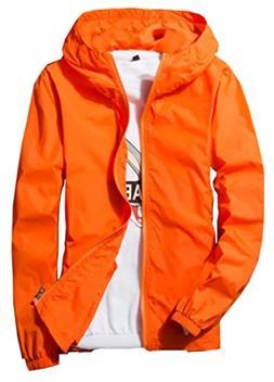 KLJR-Men Sprort Waterproof Lightweight Rain Coat Windproof S