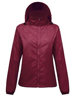 Kate Kasin Durable Girls Packable Light Rain Jacket Softshel
