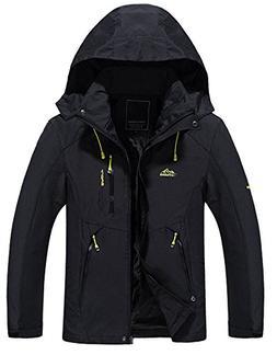 Kedera Mens Waterproof Jacket, Outdoor Hooded Lightweight So