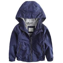 LJYH Boys Waterproof Hooded Jackets Cotton Lined Rain Jacket