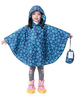 LOHASCASA Rain Poncho Jacket Coat for Girl's Overall Reusabl