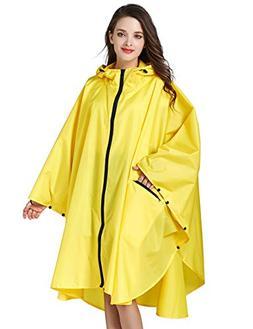 LOHASCASA Unisex Rain Ponchos Waterproof Adults Rain Coat Ja