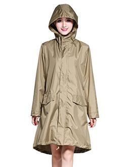 LOHASCASA Women's and Big Gril's Waterproof Raincoat Lightwe