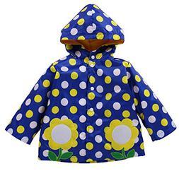 LZH Kids Girls Raincoat Waterproof Jacket Hooded Outerwear