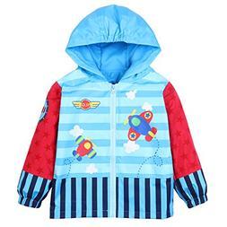 LZH Toddler Rain Jacket Girls Boys Raincoat Waterproof Hoode