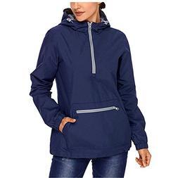 Lrud Women's Raincoat Active Outdoor Waterproof Rain Jacket
