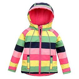 M2C Outdoor Kids Girls Thermal Fleece Jacket Windproof Coat