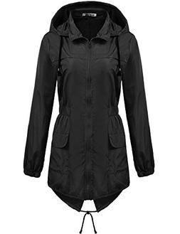 Macr and Steve Womens Lightweight Hooded Waterproof Active O