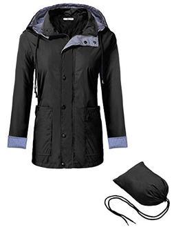 Meaneor Women Sportswear Waterproof Jacket Outdoor Raincoat