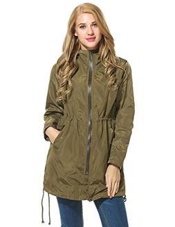 Meaneor Women's Lady¡¯s Raincoat, Women's Long Style Water