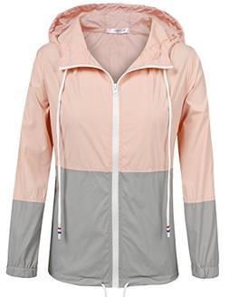 Meaneor Women's Outdoor Rain Jacket Cycling Waterproof Light