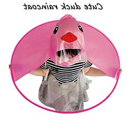 Memela Cute Rain Coat UFO Children Umbrella Hat Magical Hand