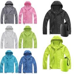 Women Men Unisex Waterproof Windbreaker Jacket Lightweight Z