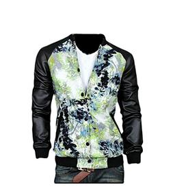 Mfasica Mens Big & Tall Sportswear Front-Zip Stand Collar Ra