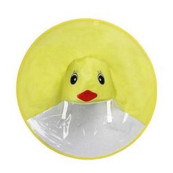 Mintu Infant Kids Cartoon Duck Cute Rain Coat UFO Rubber Wat
