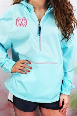 Monogrammed Pullover Rain Jacket Charles River Pack-N-Go S-X