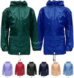 New Mens Womens Unisex Plus Size Hooded Kagool Lightweight R