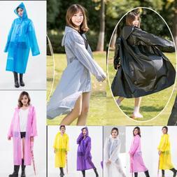 Newly Women Raincoat Waterproof Jacket Rain Coat Hood Imperm