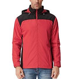 PAUL JONES Men's Lightweight Rain Jacket Solid Waterproof Ou