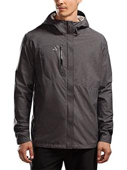 Paradox Men's Waterproof Breathable Rain Jacket, XL Black
