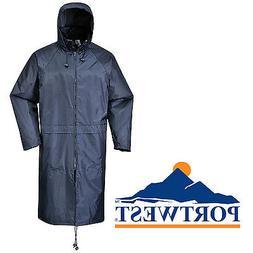Portwest Long Length Adults Rain Coat Waterproof Outdoor Pro