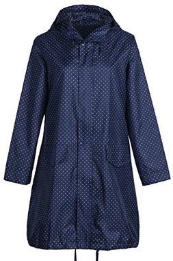 QZUnique Women's Packable Waterproof Rain Jacket Outdoor Pon