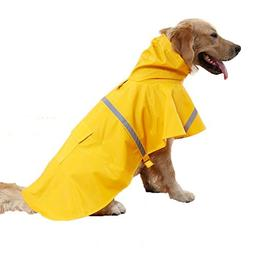 REXSONN Pet Raincoat Adjustable Waterproof with reflective s
