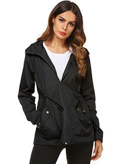 Rain Coats for Women with Hood Windproof Outdoor Sport Coat