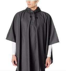 Rain Poncho Coat For Men Women Black Hooded Waterproof Wind