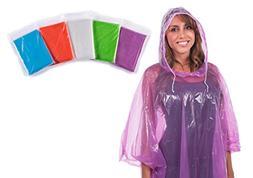 Clear Harbour Rain Poncho: Disposable Emergency Rain Ponchos