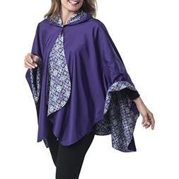 RainCaper Rain Poncho for Women - Reversible Rainproof Hoode